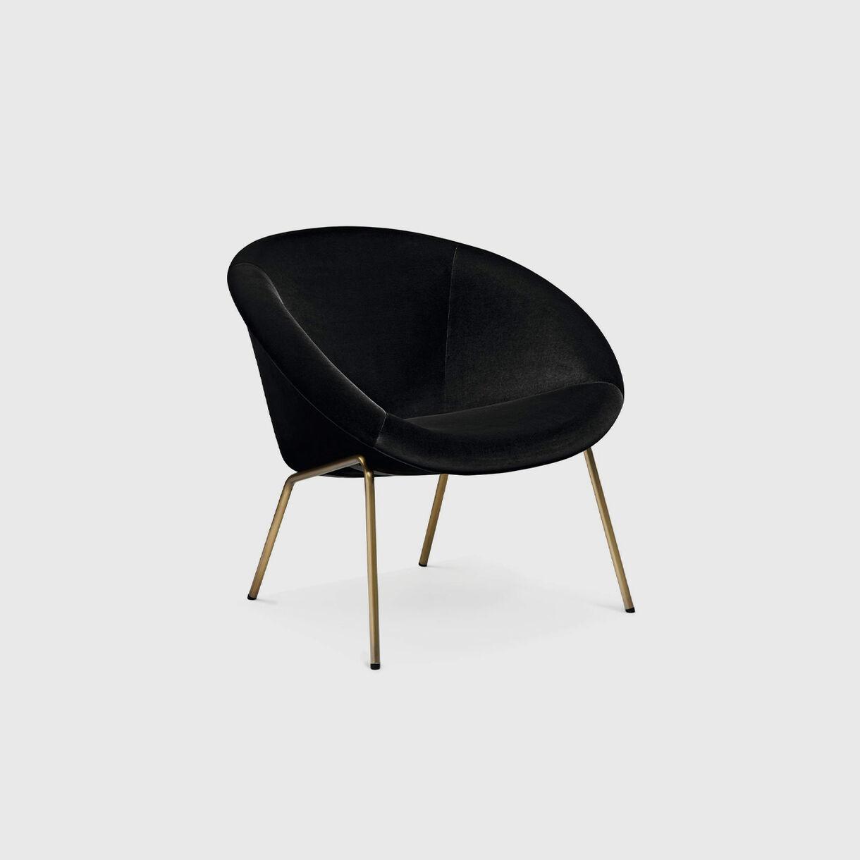 369 Chair in Brass with Black Velvet