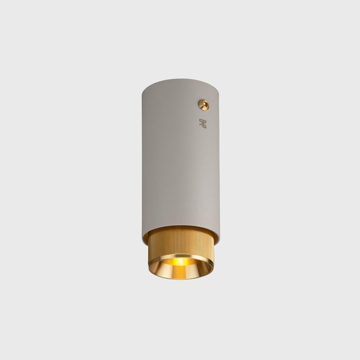Exhaust Surface Light, Stone & Brass