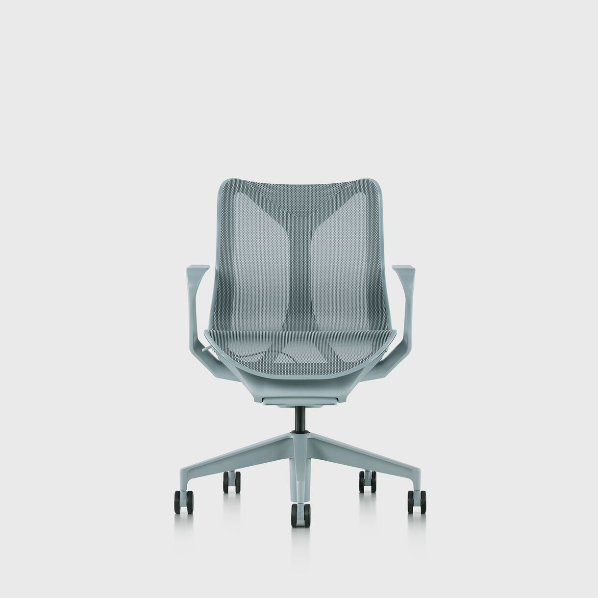 Cosm Chair, Glacier - Low Back - Fixed Arms