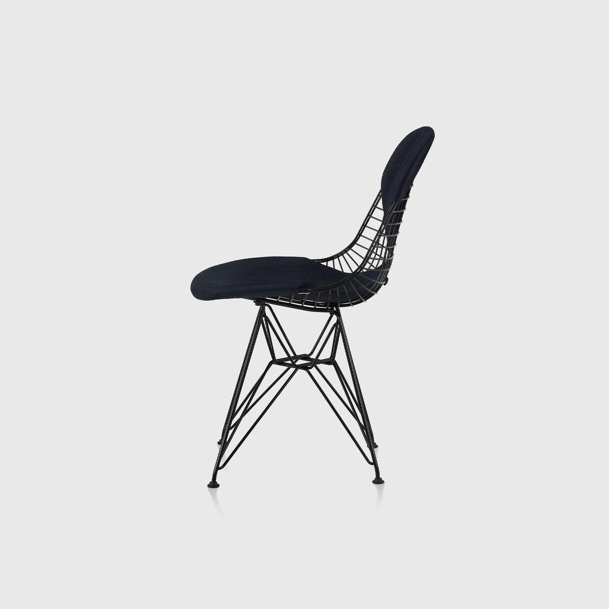 Eames Wire Base Chair, Bikini Pad, Black