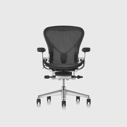 Aeron Chair, Large (C), Polished Aluminium Frame