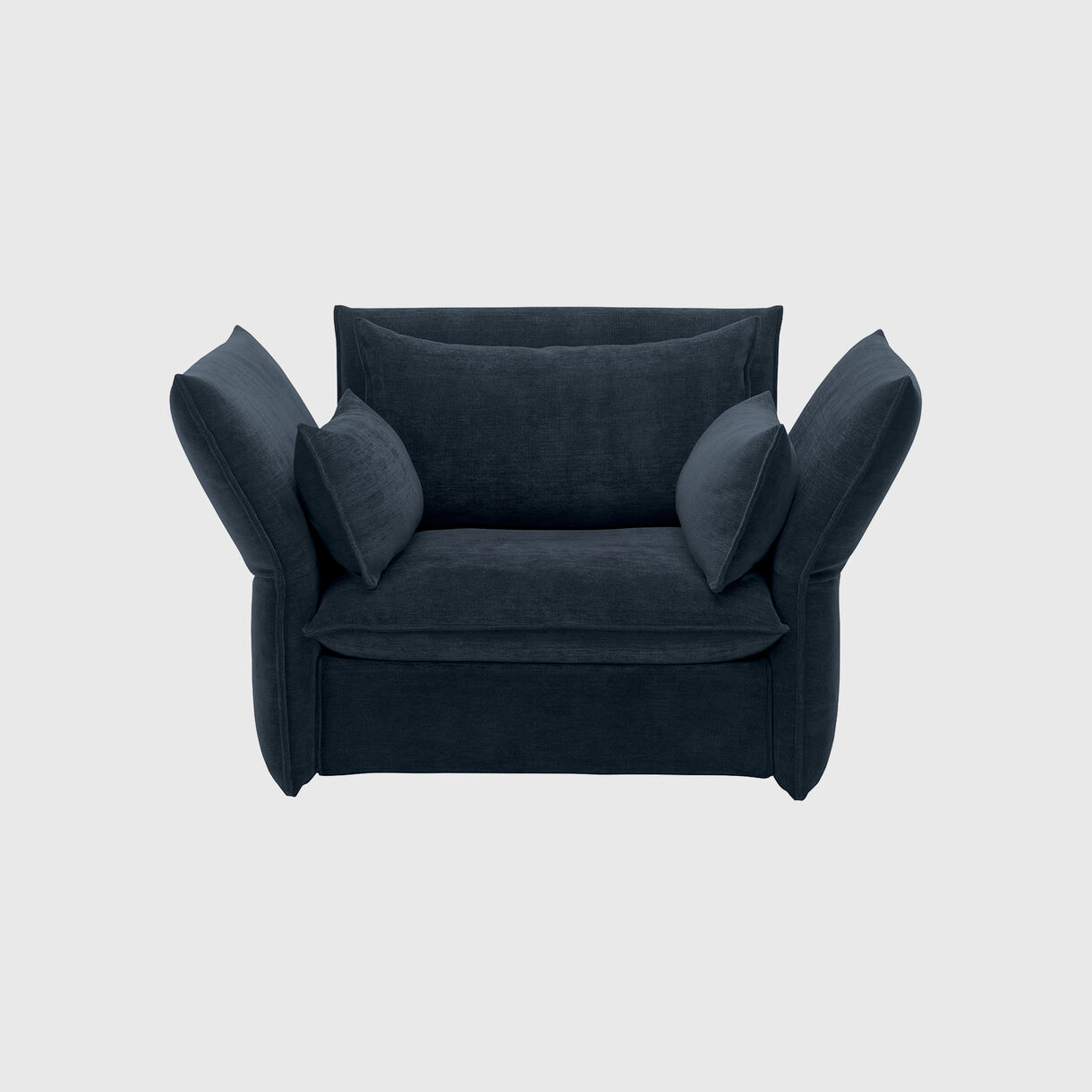 Mariposa Love Seat, Steel Blue
