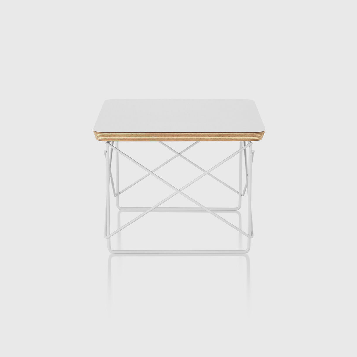 Eames Wire Base Low Table, White