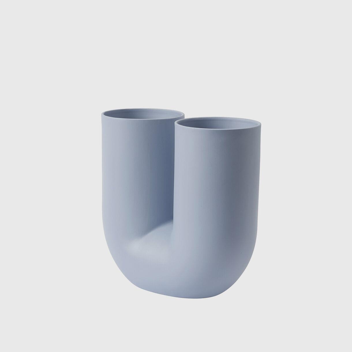 Kink Vase, Light Blue