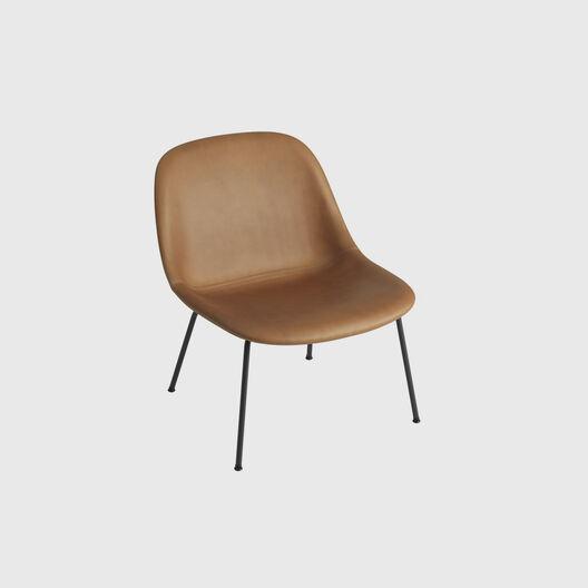 Fiber Lounge Chair,Tube Base, Upholstered
