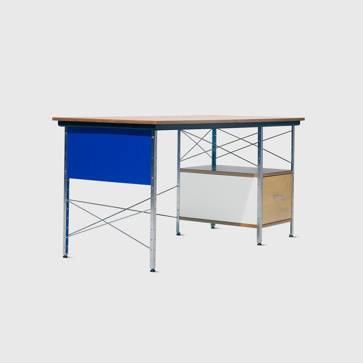 Eames Desk, Multi & Zinc Frame, RH Drawer