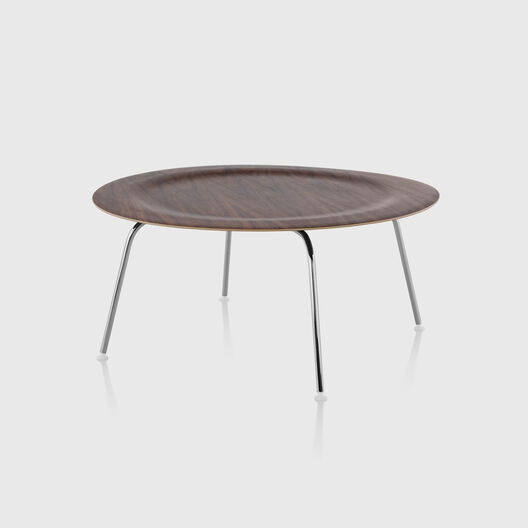 Eames® Moulded Plywood Coffee Table, Metal Base