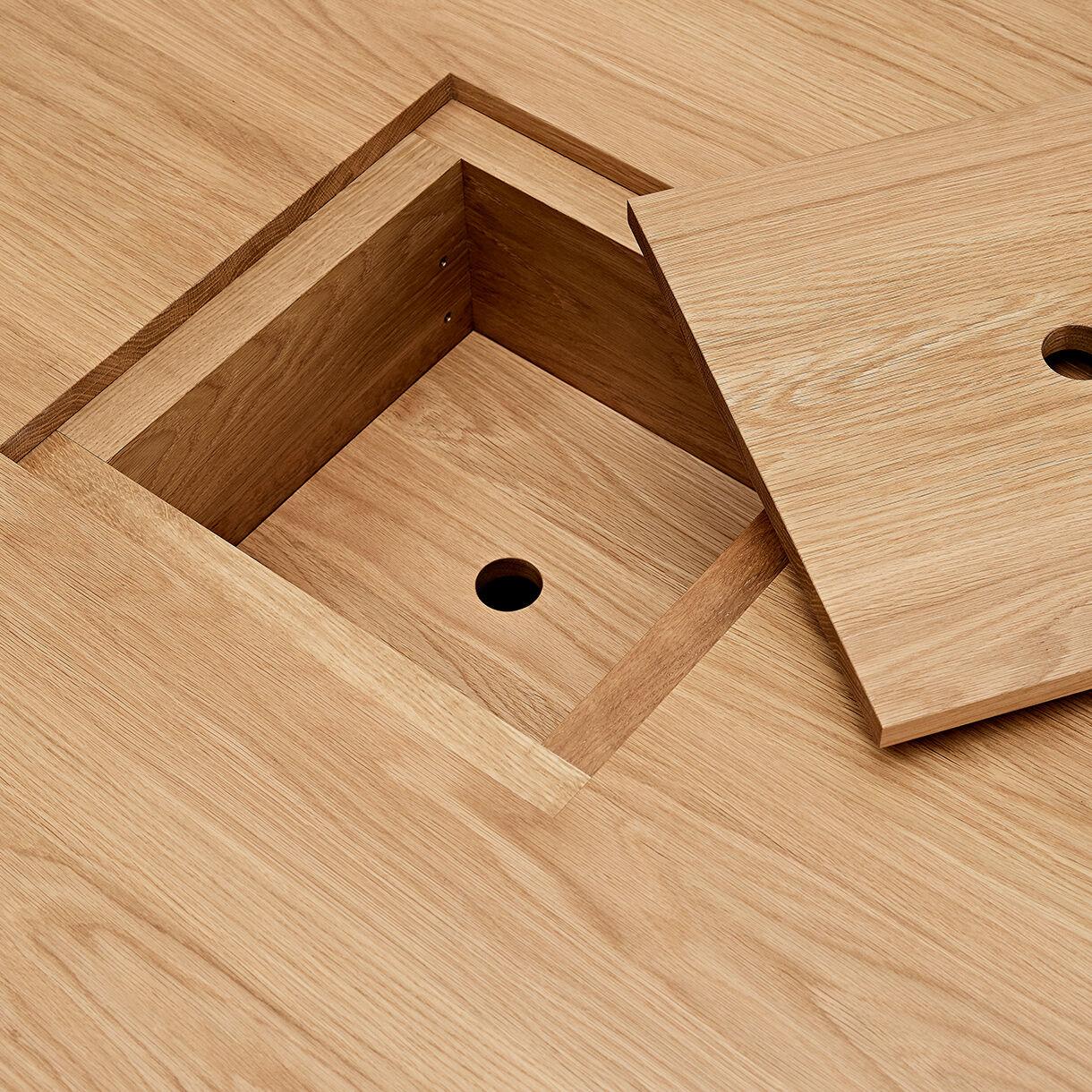 Basket Low Table, American Oak