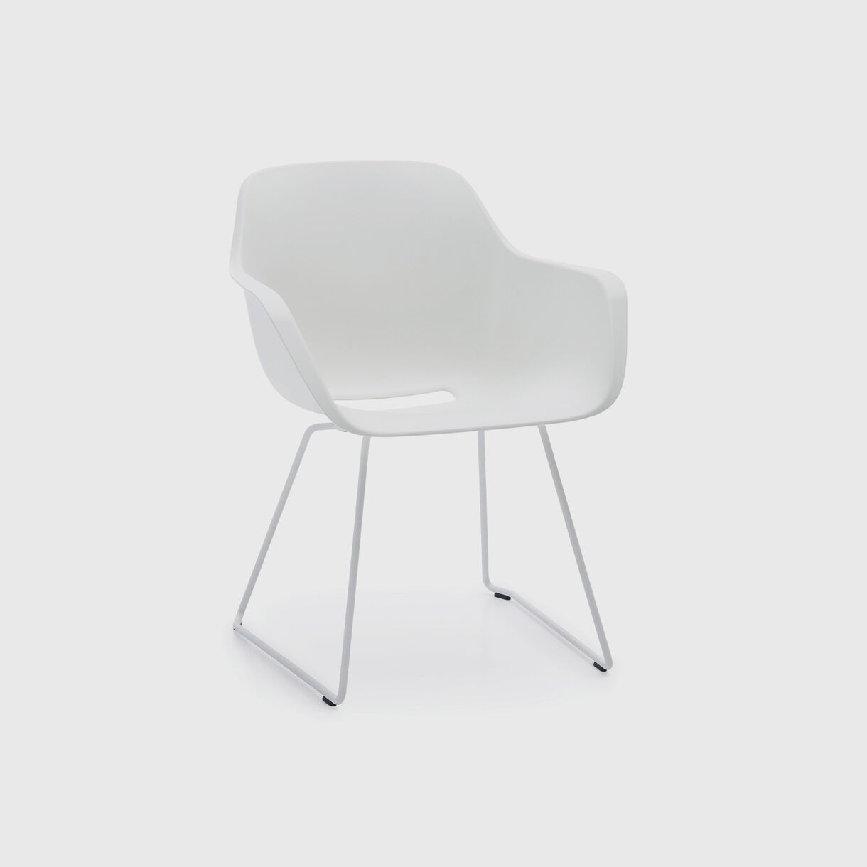Captain's Sliding Chair, White
