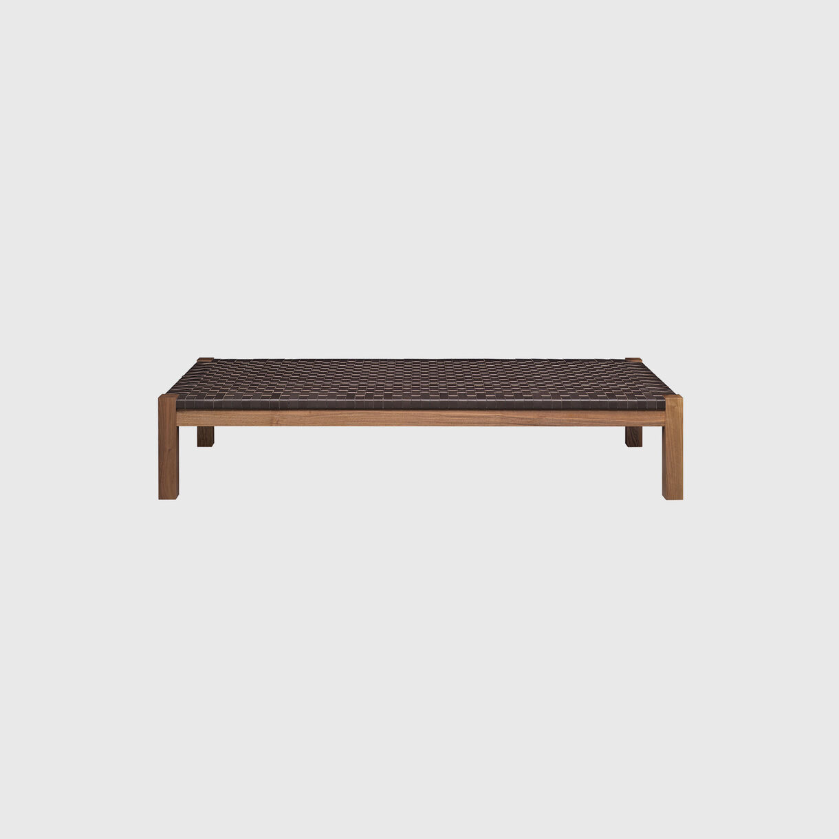 Theban Daybed, Walnut & Mocca Leather