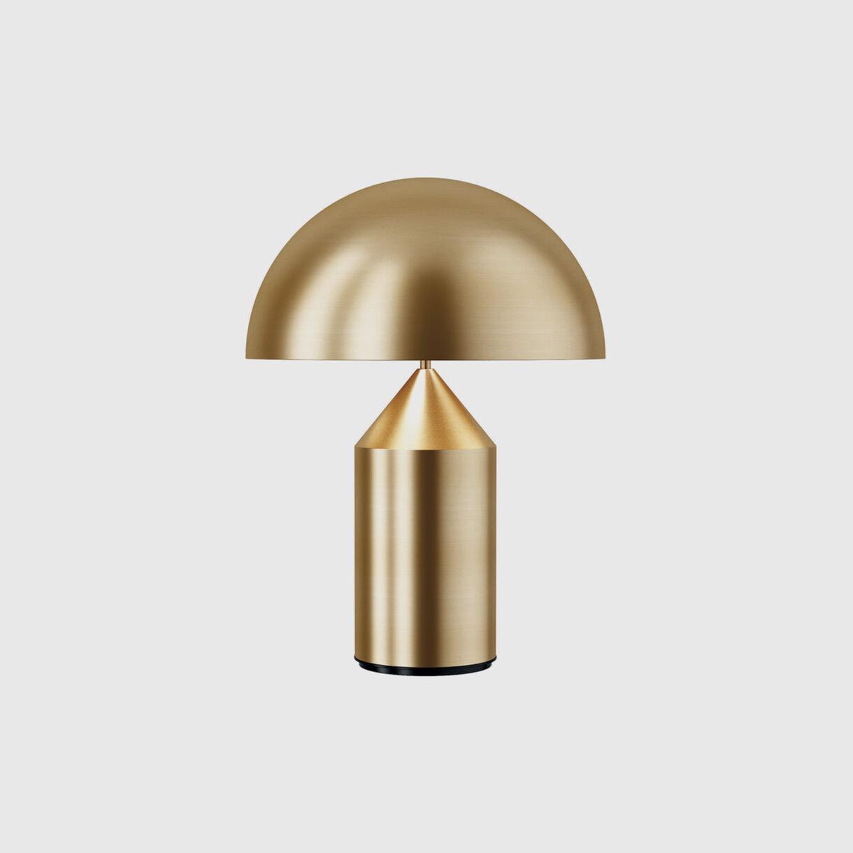 Atollo Table Lamp, Metal, Brass