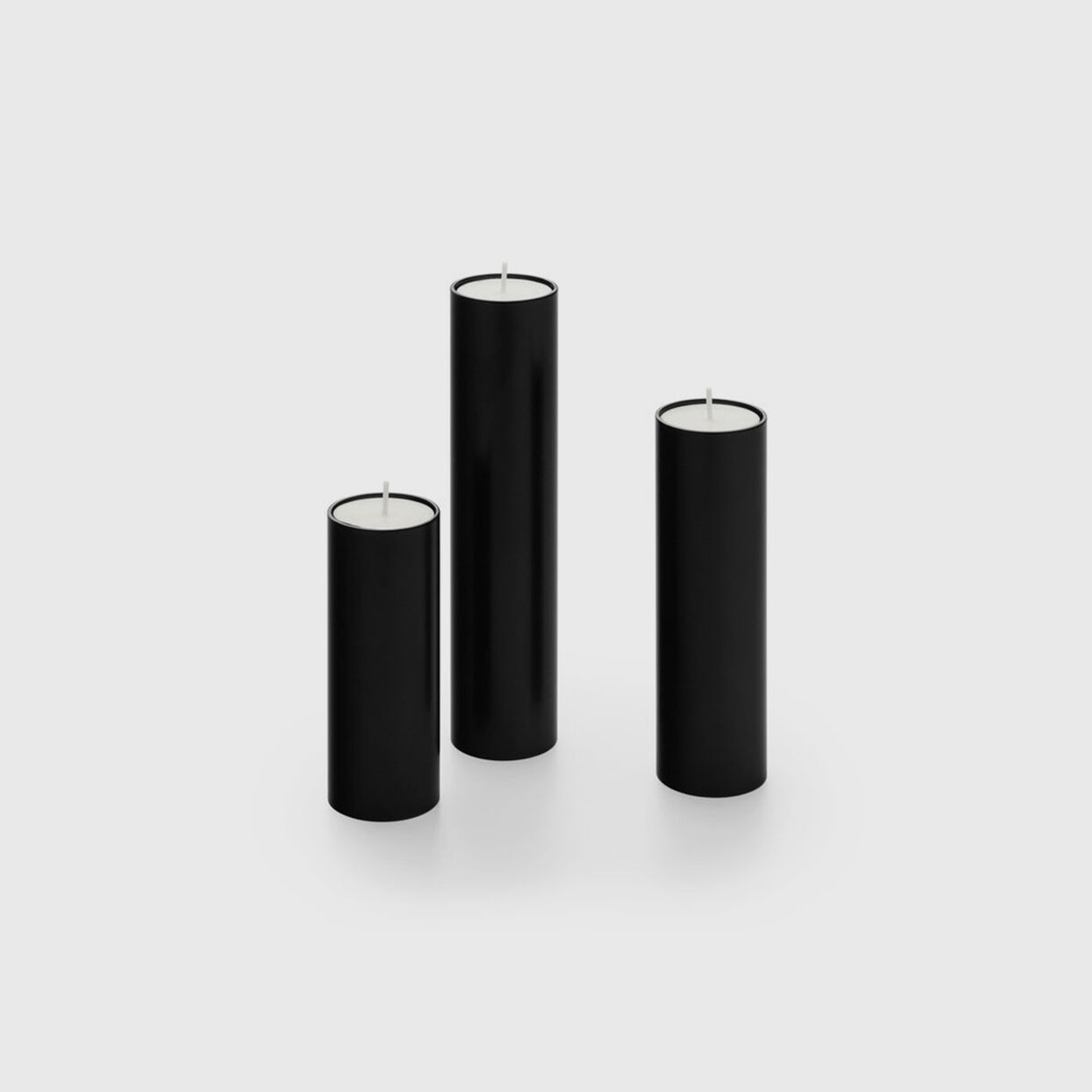 Spire Candle Holders, Black