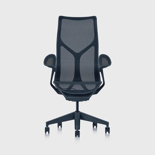 Cosm Chair, Nightfall, High Back, Leaf Arms