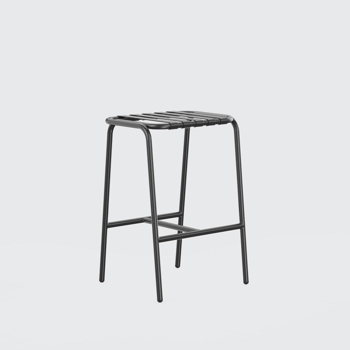 Strap Stool, 750, Black