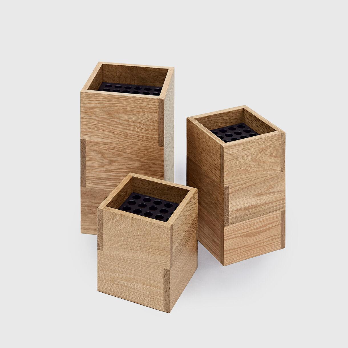 Vaza Vases, American Oak