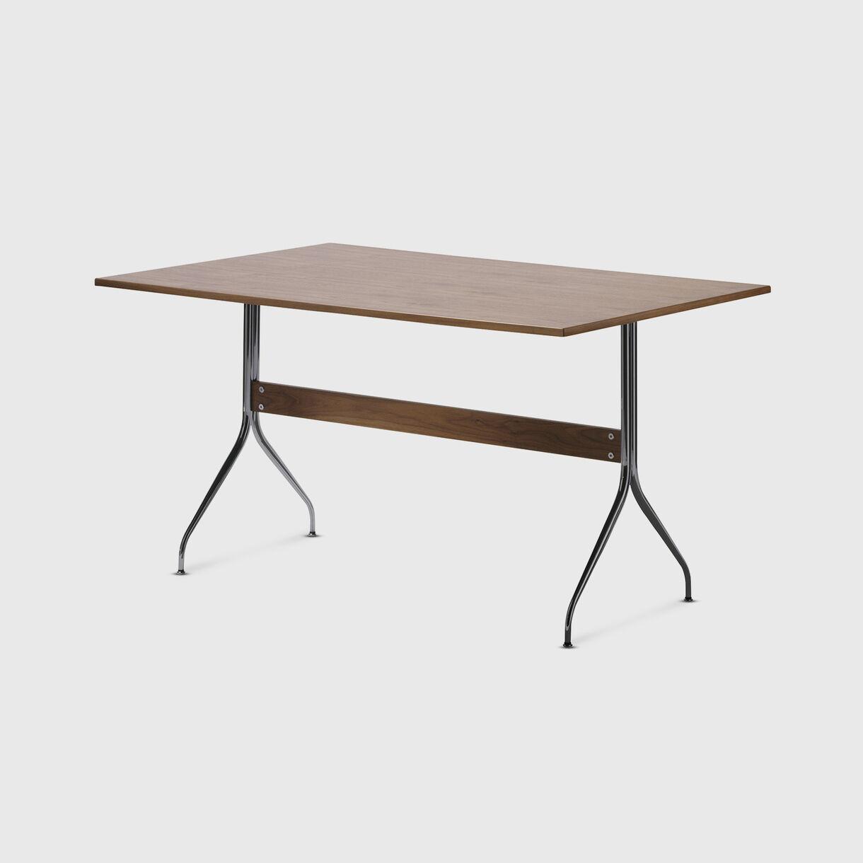 Nelson Swag Leg Work Table, Walnut Top