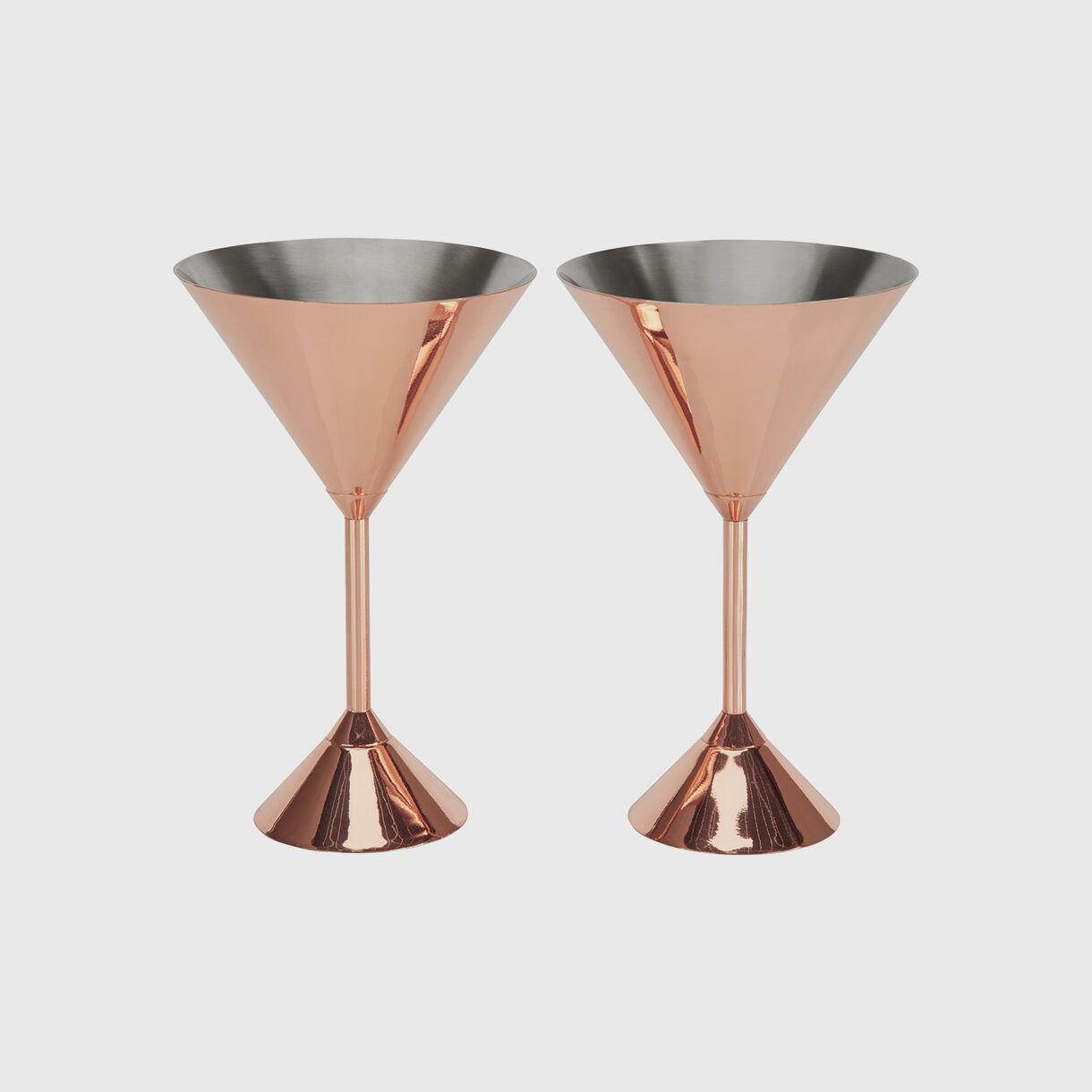 Plum Martini Glasses