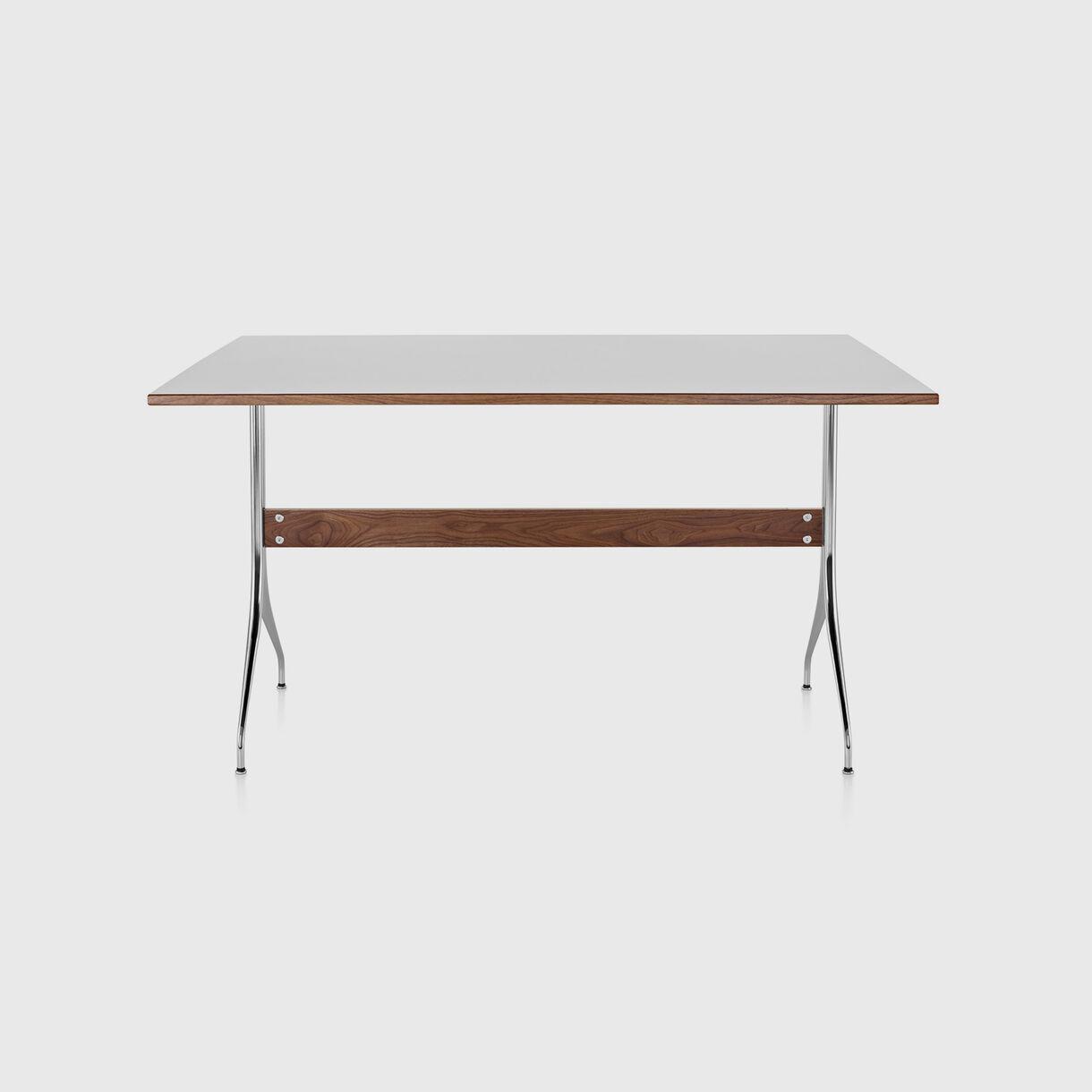 Nelson Swag Leg Work Table, White Laminate Top