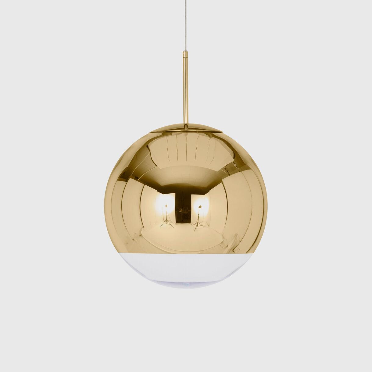 Mirror Ball Pendant 400mm, Gold