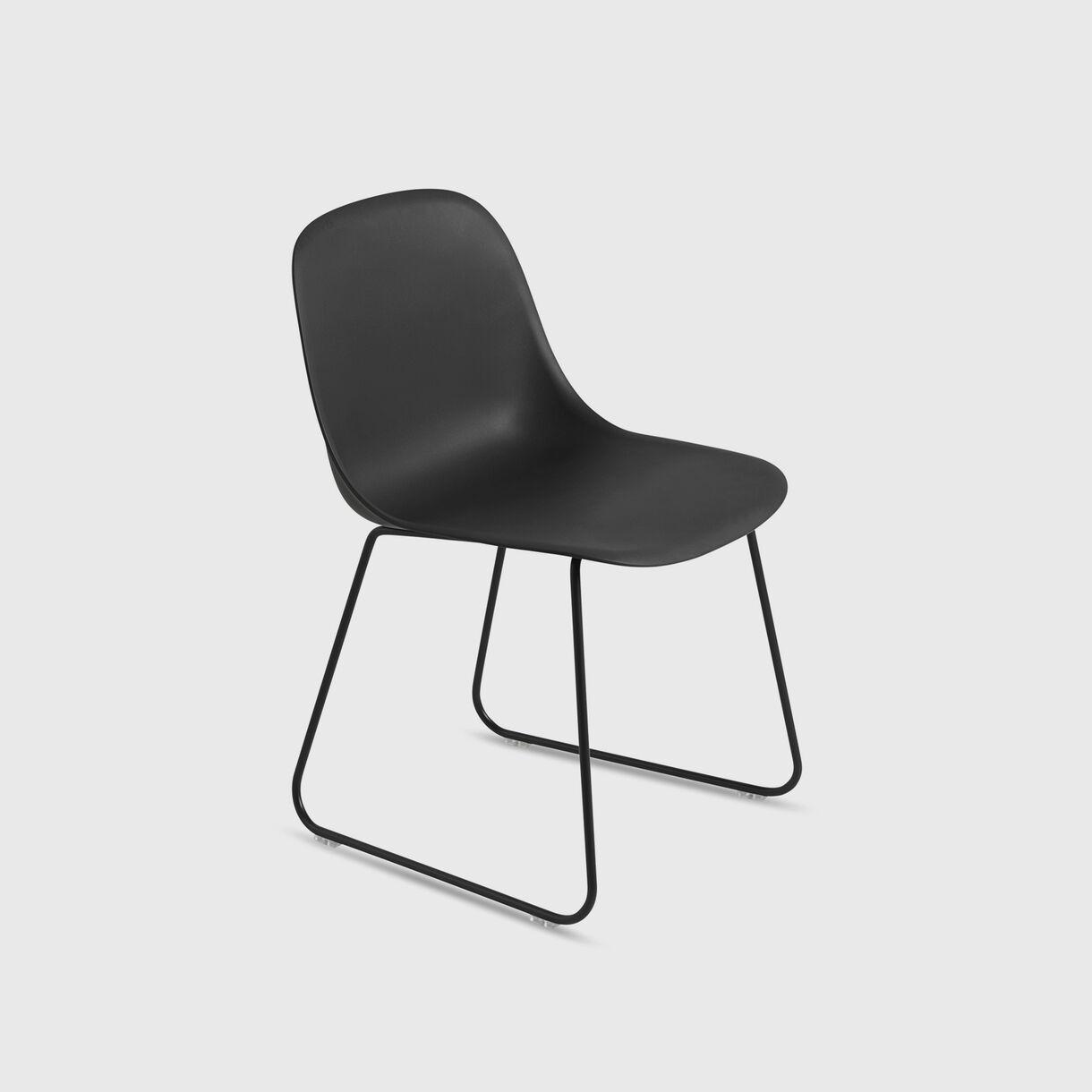 Fiber Side Chair Sled Base, Black
