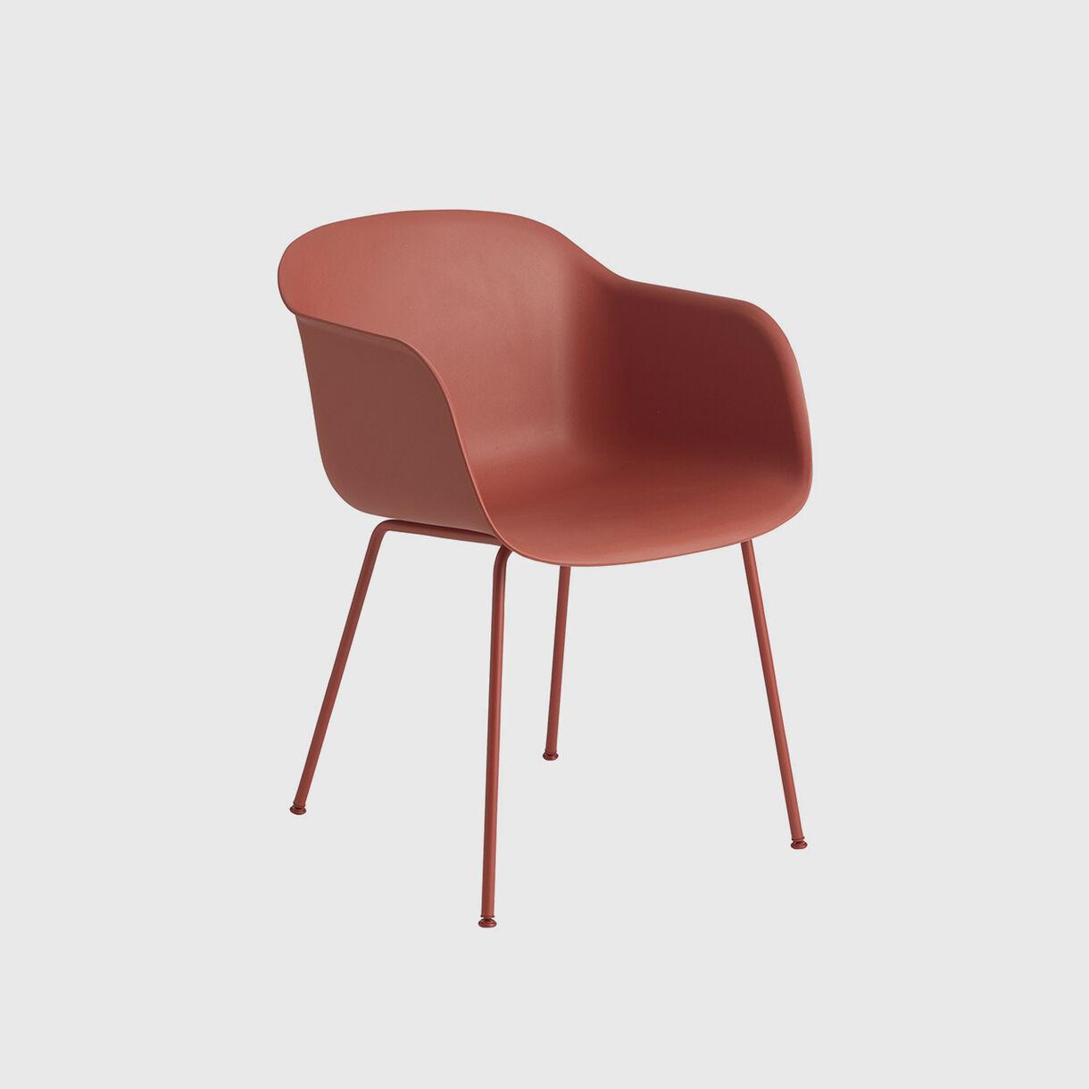 Fiber Armchair, Tube, Dusty Red