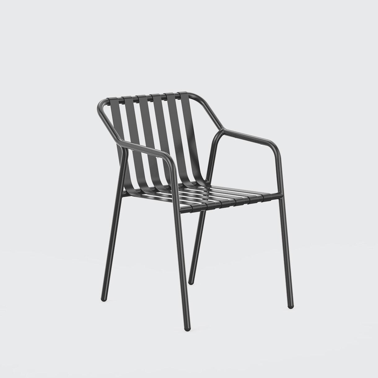 Strap Armchair, Black