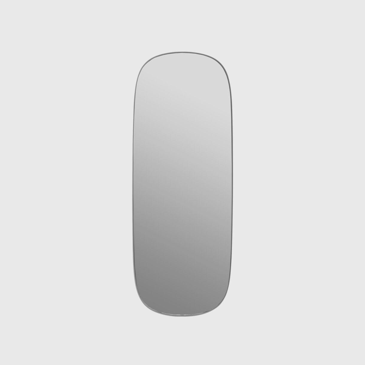Framed Mirror Large, Grey