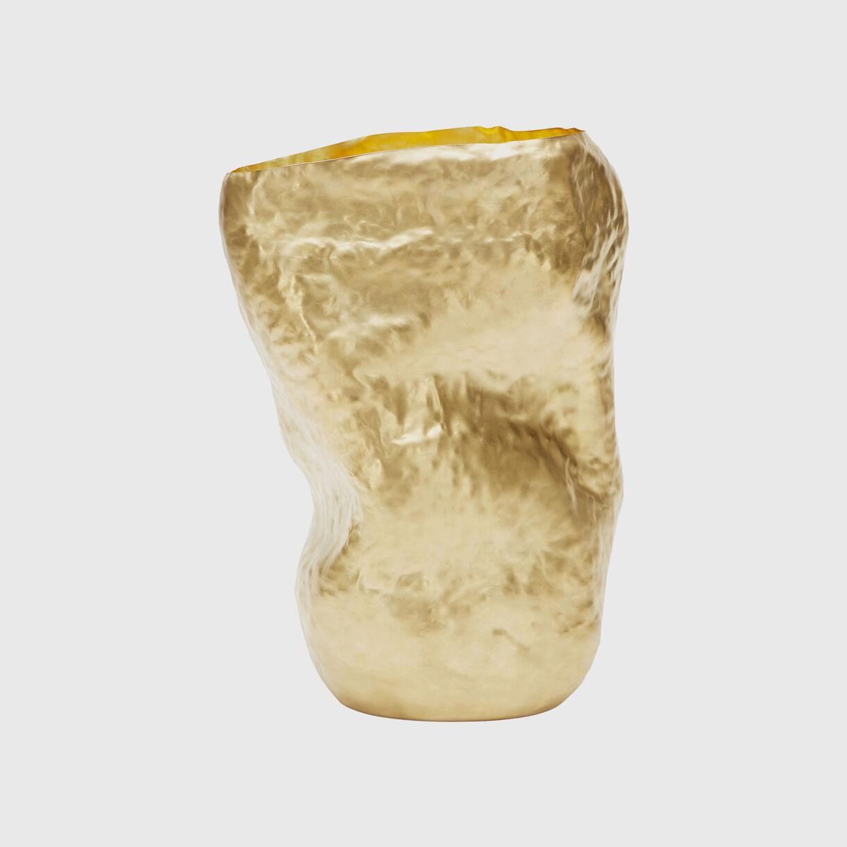 Bash Vessel Tall in Brass