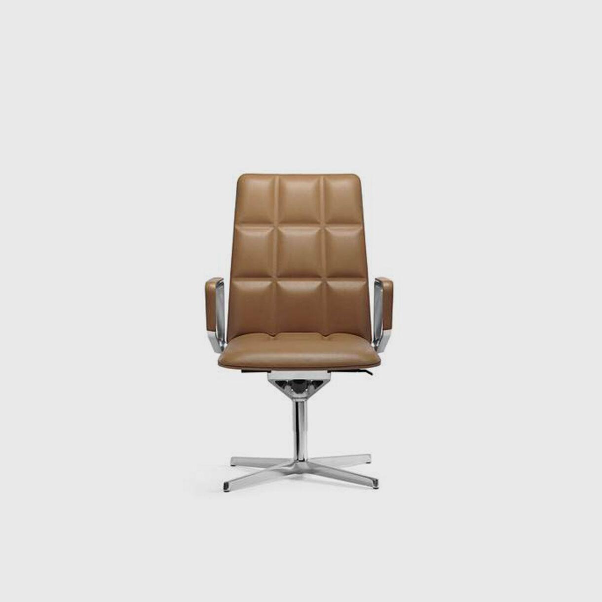 Leadchair Executive, Mid Back, Tan
