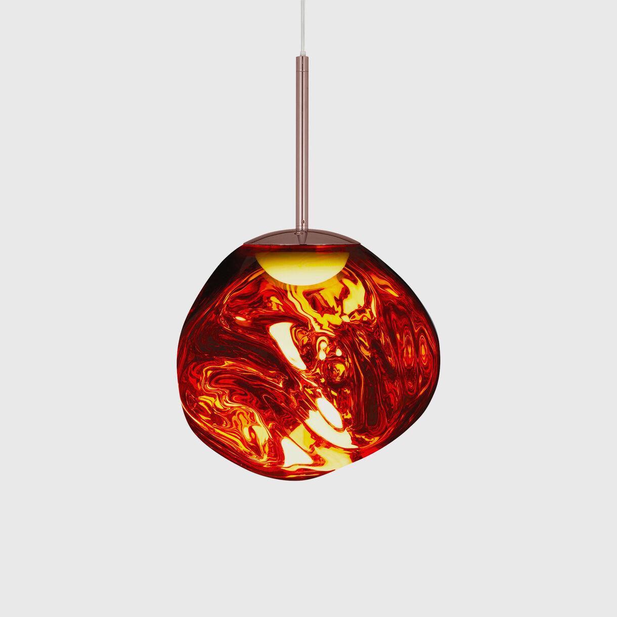 Melt Mini Pendant LED, Copper, On