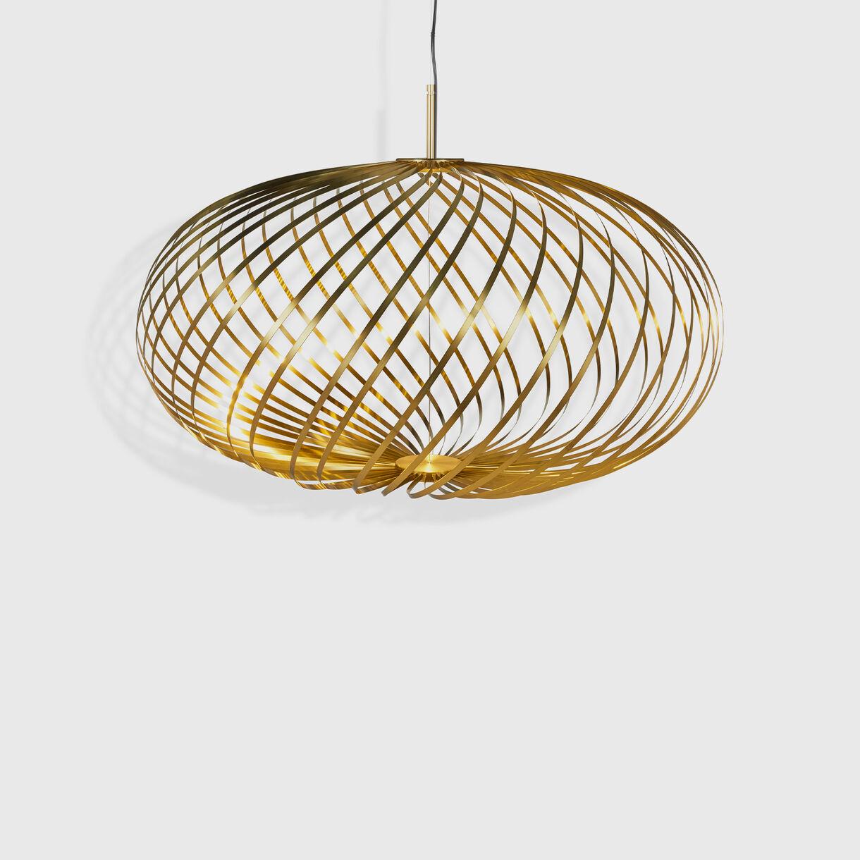 Spring Pendant, Medium, Brass