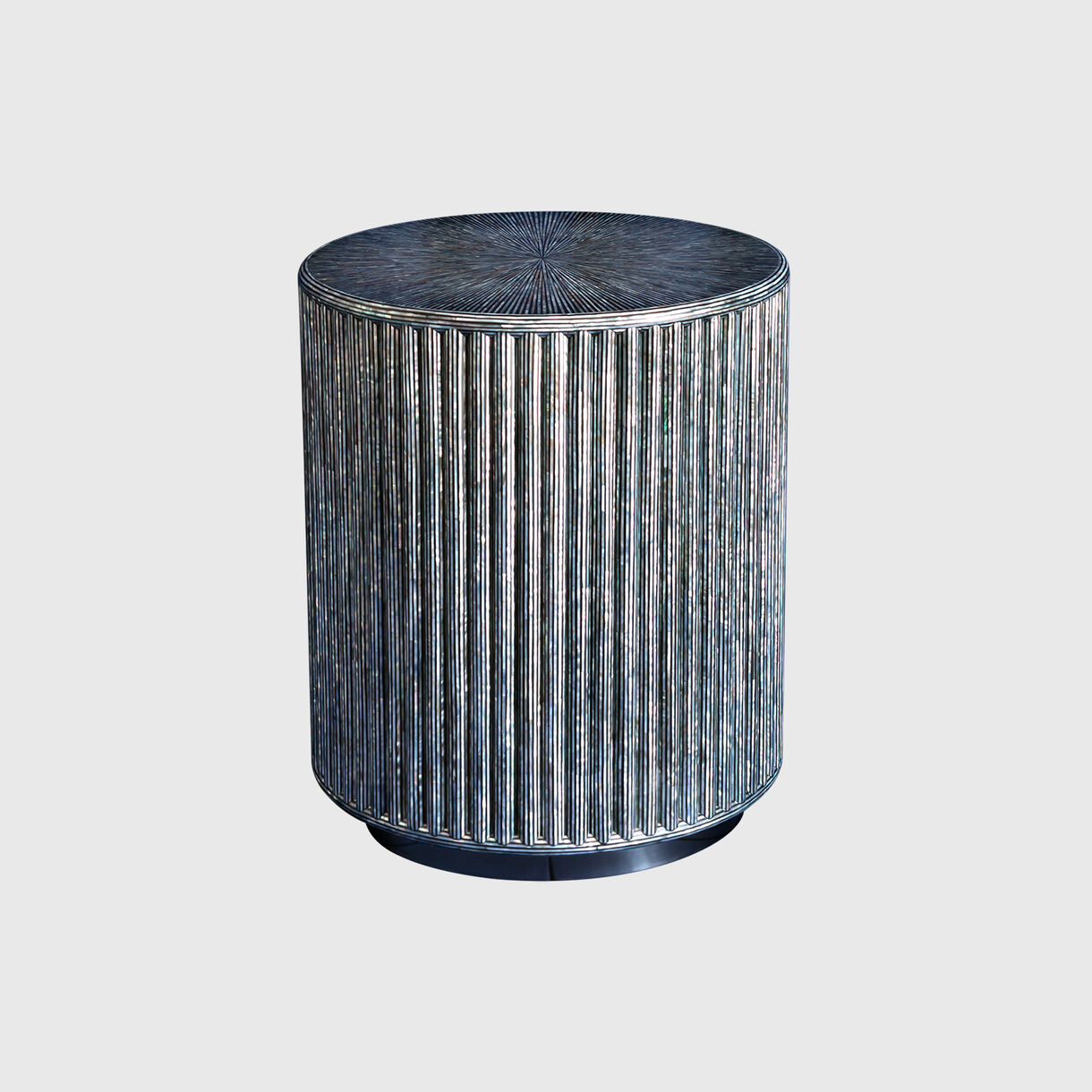 Pearl Shell Fluted Side Table