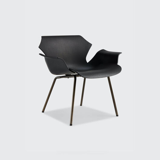 Petal Lounge Armchair with Metal Base