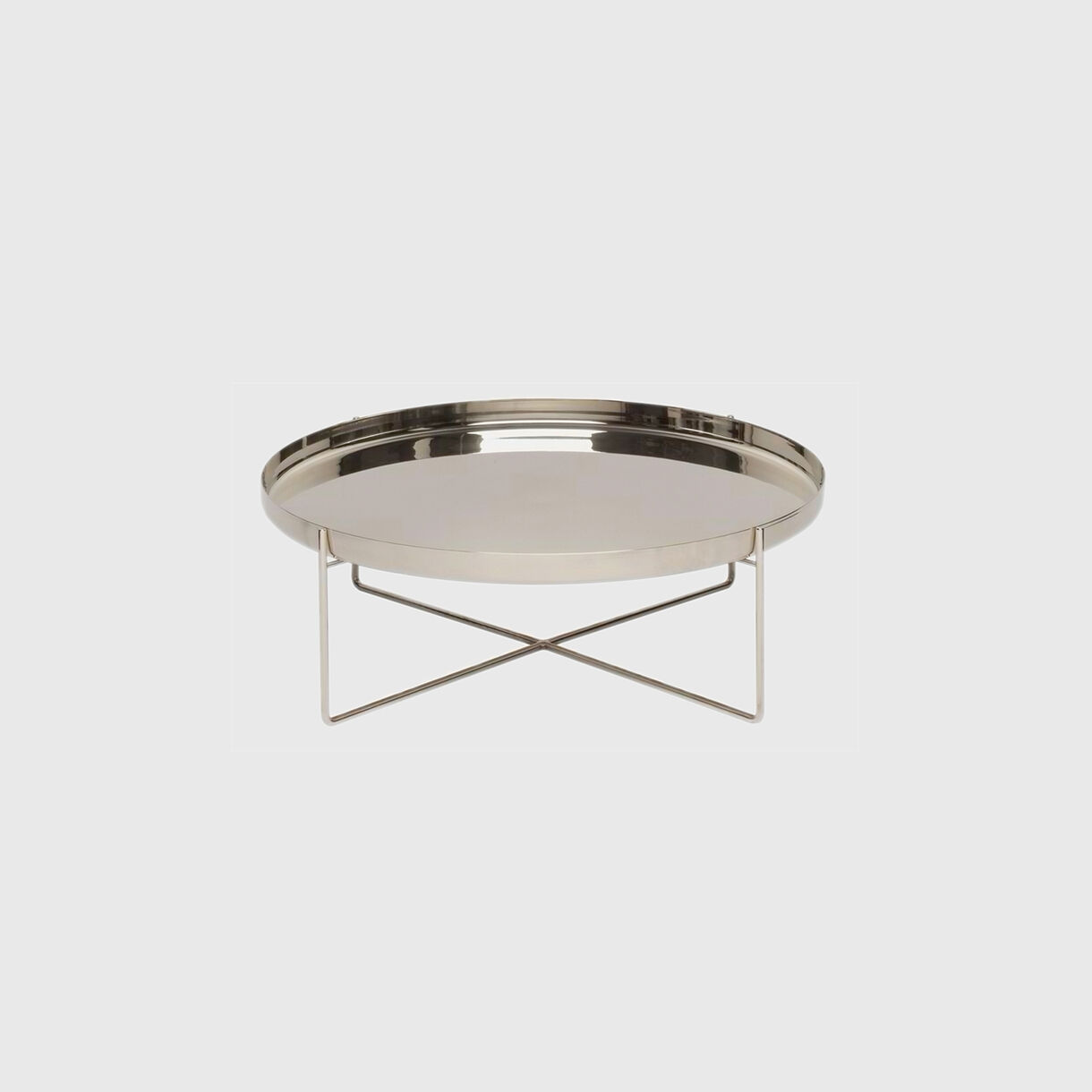 Habibi Low Side Table, Large, Stainless Steel