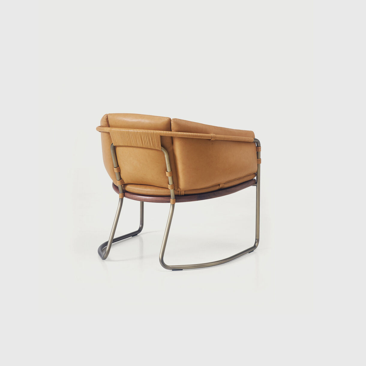 Geometric Armchair in Leather