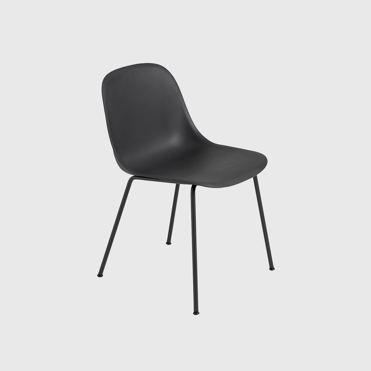 Fiber Side Chair Tube Base, Black