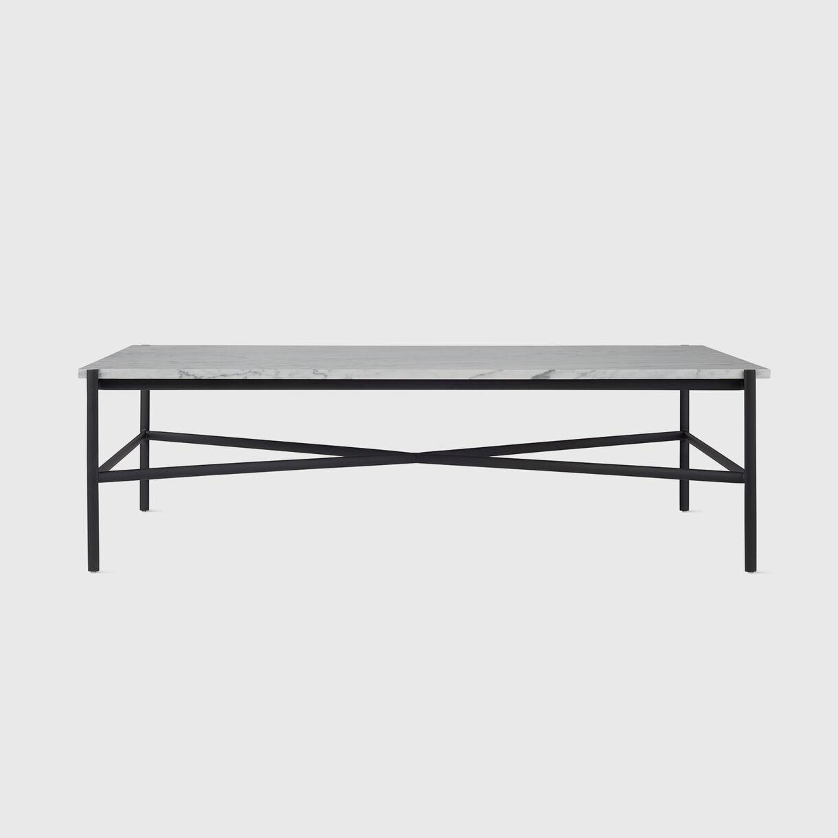 Sylvain Outline Coffee Table, Carrara Marble & Black
