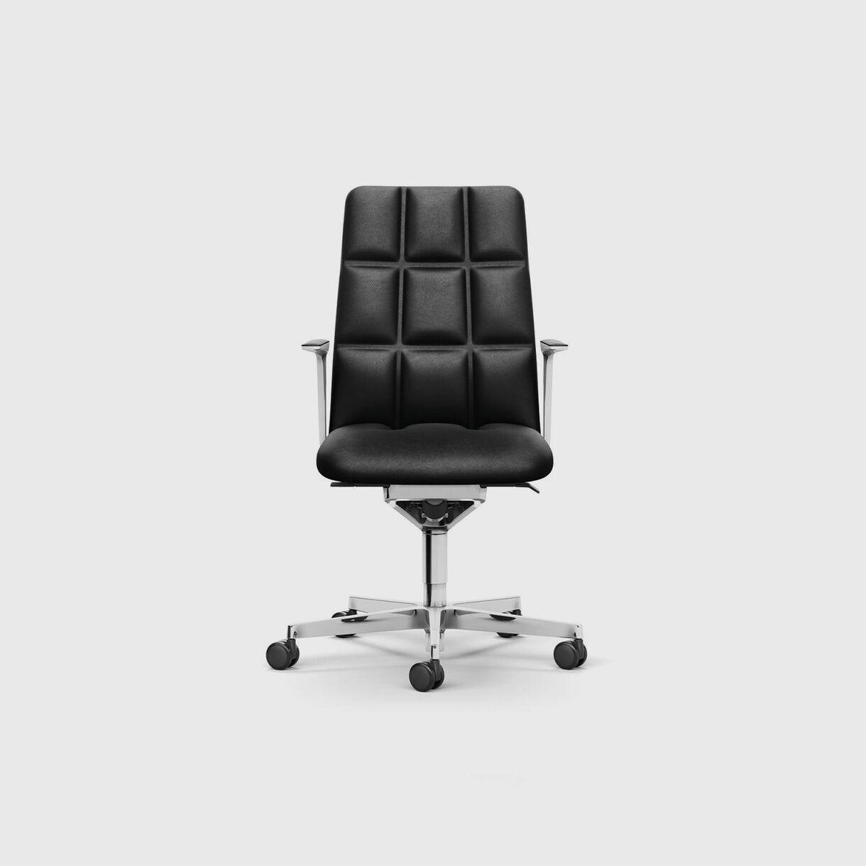Leadchair Management, Mid Back, Black