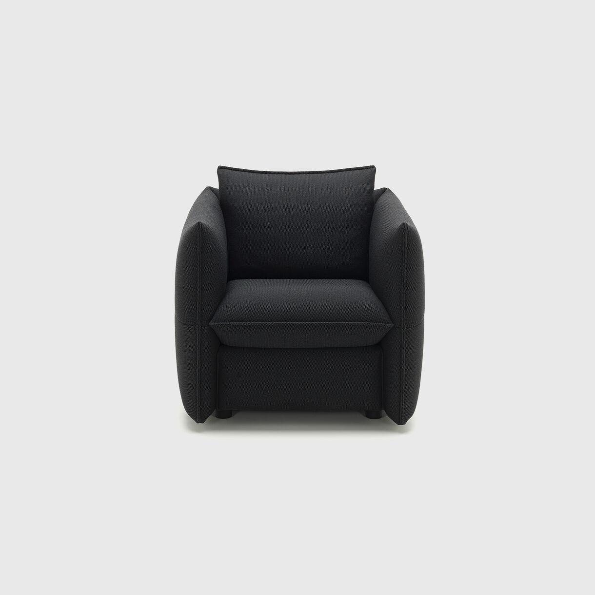 Mariposa Club Armchair, Black Anthracite