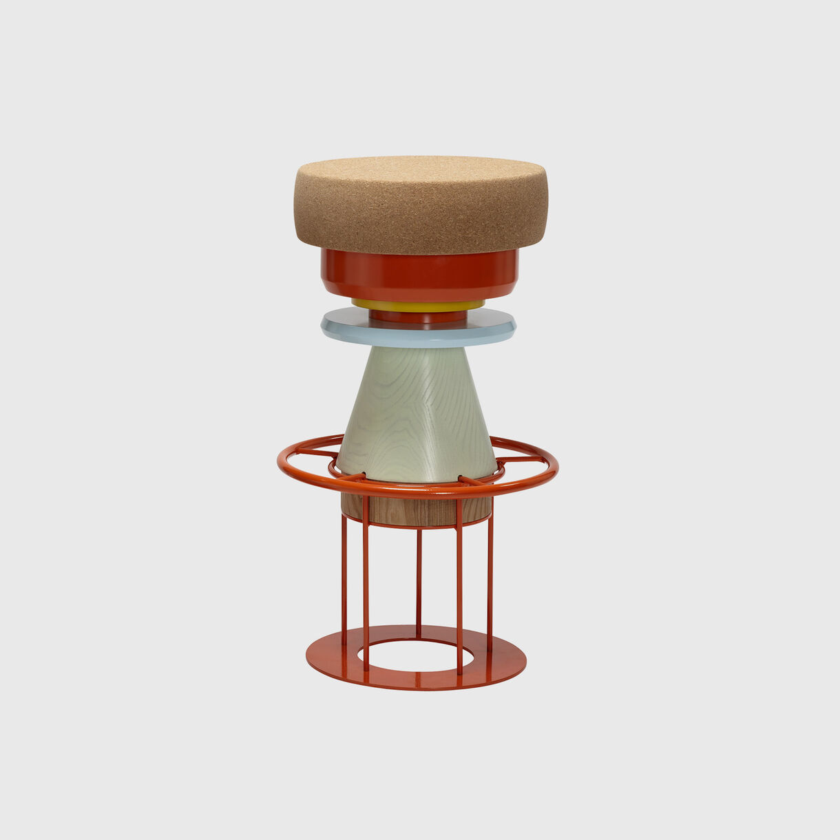 Tembo Stool, High, Multi Coloured