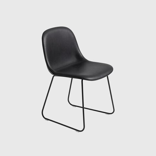 Fiber Side Chair, Sled Base, Upholstered