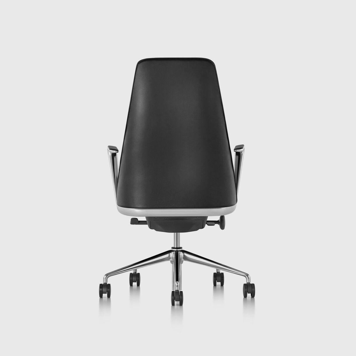 Taper Chair, Black Leather