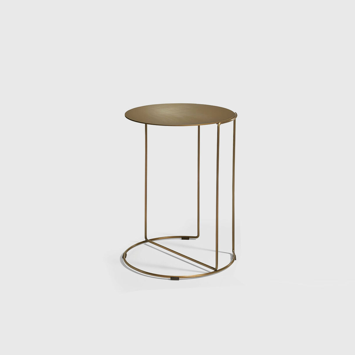 Oki Round Side Table, T4, Brass