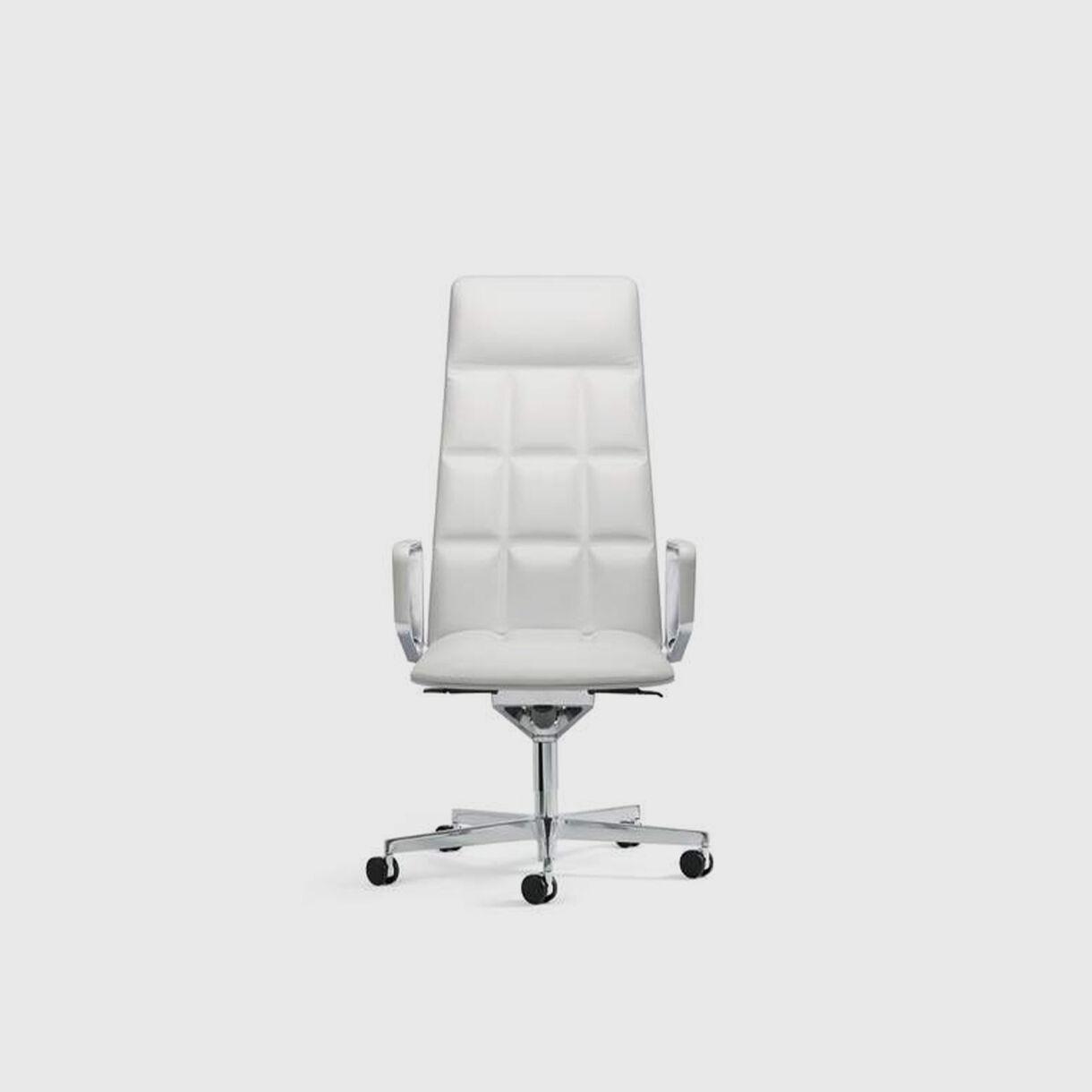 Leadchair Executive, High Back, White