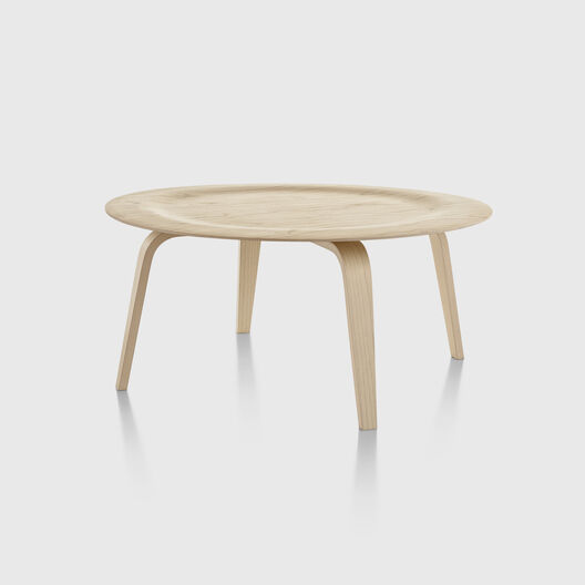 Eames® Moulded Plywood Coffee Table, Wood Base