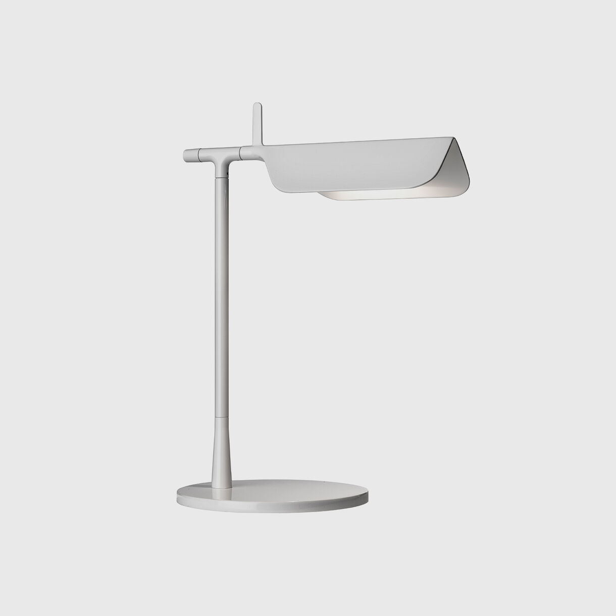 Tab Table Lamp, White, On