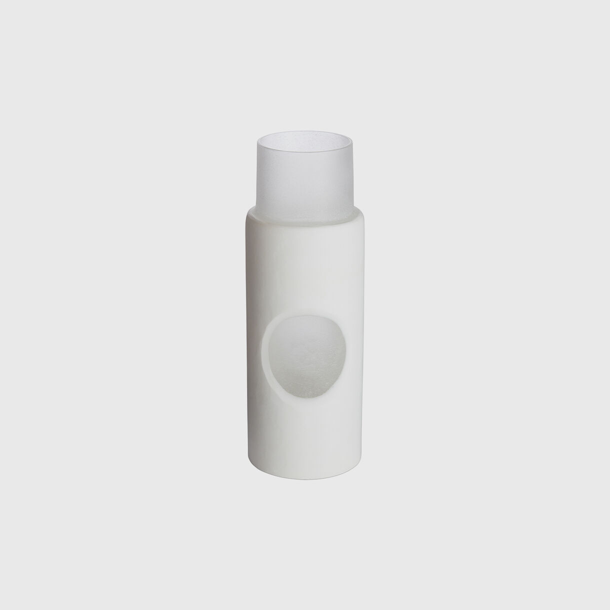 Carved Vase, Small, White