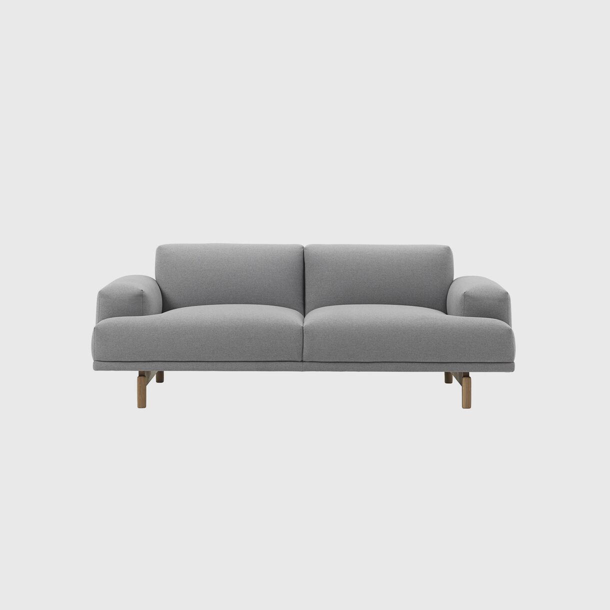 Compose Sofa, 2 Seater, Modesto Steingrau