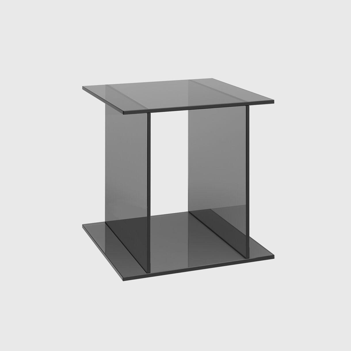 Drei Side Table, Smoke Grey
