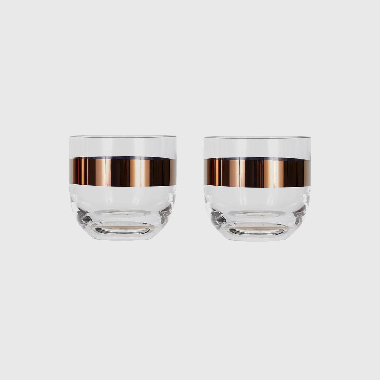 Tank Whiskey Glasses, Copper